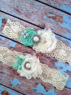 wedding garter / tiffany / bridal  garter/ by FallenStarCoutureInc, $24.99 Garter Toss, Lace Garter, Garter Set, Tiffany's Bridal, Wedding Garter, Wedding Bells, Thing 1, Chiffon Flowers, Ivory Pearl
