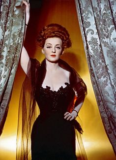 A color Hurrell portrait of Bette Davis for THE LITTLE FOXES (1941).