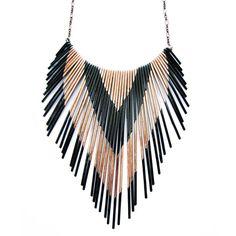Copper Multi V Necklace