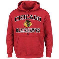 Majestic Chicago Blackhawks Heart & Soul Pullover Hoodie - Red