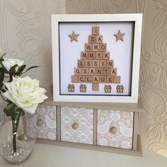 Scrabble Art Christmas Tree Frame Scrabble Christmas Tree