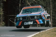 1974 BMW 3.0 CSL racing at the Nürburgring with Hans-Joachim Stuck/Jacky Ickx (BMW 3.0 CSL) at the control