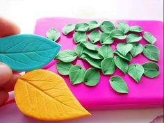 """Mold """"Leaf Rose"""" from polymer clay - YouTube"""