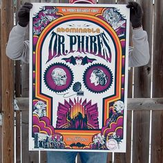 The Abominable Dr Phibes by @ghoulishgary - www.skuzzles.com edition of 135 #vincentprice #abominabledrphibes #drphibes #phibes #screenprint #silkscreen #illustration #movieposter #poster #popculture #mgm #horror #horrormovie #cultmovie #limitededition #skuzzles #ghoulishgary #GaryPullin