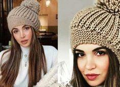 Вязание - модели и схемы: Интересная шапочка с описанием Knitted Hats, Crochet Hats, Hats For Women, Diy And Crafts, Winter Hats, Beanie, Knitting, Pattern, Yellow