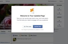 Facebook's Page Update is beginning to release in wider numbers. #facebook #socialmedia #smm #marketing