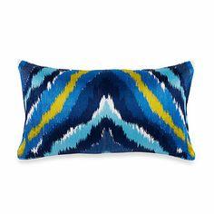 Buy Trina Turk® Trellis Chevron Oblong Toss Pillow from Bed Bath & Beyond