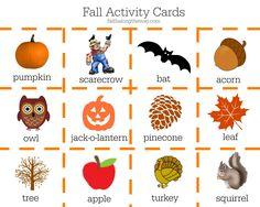 Fall Activity Cards faithalongtheway.com