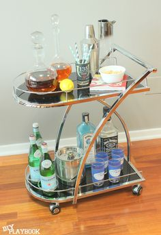 Cheers to creating an affordable bar cart setup with #HomeGoods accessories! #HappyByDesign #sponsored