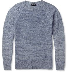 A.P.C. - Knitted-Camel Crew Neck Sweater|MR PORTER