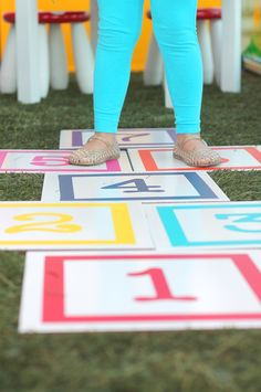 Floor Tile Hopscotch by Damask Love. Make It Now with the Cricut Explore machine in Cricut Design Space.