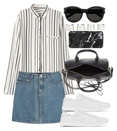 """""""Sin título #2901"""" by anahi1907 ❤ liked on Polyvore featuring A.P.C., Yves Saint Laurent and Maison Margiela"""