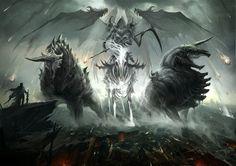 sandara deviantart arte conceitual fantasia dragões monstros