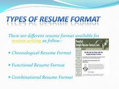 Different Types Of Resumes Resume.ae Why You Should Skip The Career Objective Section O .
