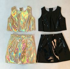 black / gold holographic sets on glitters for dinner