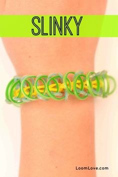 How to Make a Rainbow Loom Slinky Bracelet