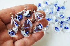 Handmade Glass Evil Eye 5 Pcs Lamp Work by PrettyTurkishThings