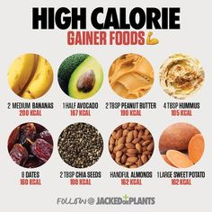If you want to gain weight and muscle you have to consume high-calorie healthy foods. This article lists 10 of the best healthy foods that will help you gain weight fast for men and women. Vegan Weight Gain, Weight Gain Workout, Ways To Gain Weight, Weight Gain Journey, Gain Weight Fast, Weight Gain Meals, Weight Gain Meal Plan, Lose Weight, Weight Loss