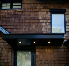 Image result for contemporary steel awnings Modern Entry, Modern Door, Front Door Awning, Masonic Lodge, Pivot Doors, Canopy, Garage Doors, Backyard, Steel