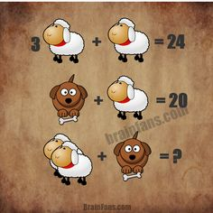 One funny math puzzle with sheep and dog. Which is the correct results of the equations? Please share your answer below in the comments.