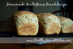 Once you bake this homemade multigrain bread recipe, you'll be hooked!  My family can't get enough of it! http://healthymomskitchen.com #bread #healthyrecipe
