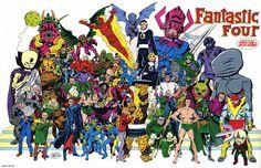 Marvel Comics of the 1980s: 1984 - John Byrne's Fantastic Four poster