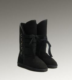 UGG Roxy Tall 5818 Black Boots For Sale In UGG Outlet - $104.04