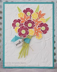 Bright Beautiful Bouquet - Stampin' Up! Beautiful Bouquet - Fab Friday 116