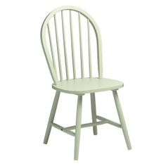 Shabby Chic Dining Chair in Green
