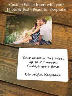 Personalized Wallet Card Wallet Insert Wallet by NowThatsPersonal