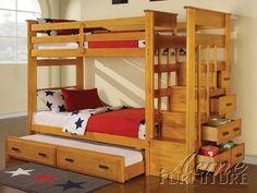 Newell Honey Oak Finish Twin/Twin Bunk Bed  $700