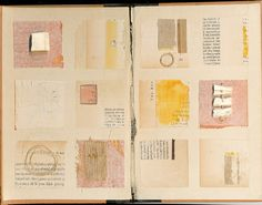 Interesting grid layout using unifying colors ~ artist Melinda Tidwell  #art #journal  #mytumblr