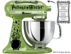 Potions Master Decal Kit for your Kitchenaid Stand Mixer - Harry Potter Inspired with Polyjuice Potion Recipe by GoodMommyLtd on Etsy