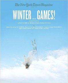 The New York Times Magazine, February 7, 2010, Winter (fun and) Games! A photo portfolio of Olympian heights by Ryean McGinley (Lindsey Vonn on top (Bill Pennington), Shani Davis on edge (Michael Sokolove), Canada as a brand (Michael Ignatieff), figure skating as disaster porn (Virginia Heffernan) and more.) by various,http://www.amazon.com/dp/B004RYE27M/ref=cm_sw_r_pi_dp_sMKfsb05C6G86X7F Someone from Yokohama, Japan bought my copy.