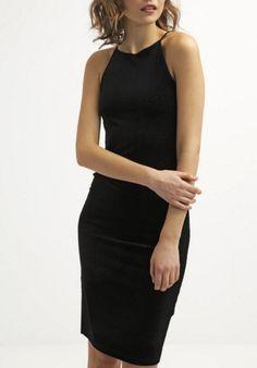 Topshop Sukienka mała czarna dopasowana black