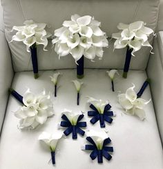 Customize Your Package, White Calla Lily Bouquet, Navy Blue Calla Lily Bouquet, Real Touch Calla Lil Lily Bouquet Wedding, White Wedding Bouquets, Bridesmaid Bouquets, Wedding Flowers, Calla Lily Cake, Purple Calla Lilies, Calla Lily Boutonniere, Calla Lily Bouquet, Boutonnieres