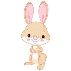 CLIPART CUTE BUNNY | Royalty free vector design