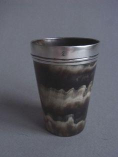 A George III silver mounted horn beaker (London)