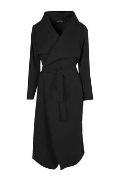 Belted Waterfall Coat - All About Classy Dress, Classy Outfits, Chic Outfits, Fashion Outfits, Fashion Coat, Uk Fashion, Girly Outfits, Fashion Days, Trendy Outfits