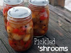 Pickled 'Shrooms (mushrooms) - Putting Up with Erin