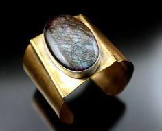 Labradorite, Brass By gail Williams jewelry
