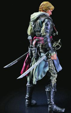 Edward Kenway action figure Play Arts Kai. $80 is pasically what I paid for my statue in the CEof AC4, but this one is SO MUCH NICER