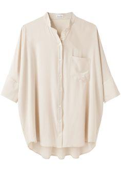 Steven Alan Oversized Silk Shirt   La Garçonne