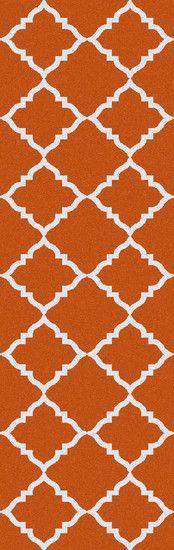 Leila Burnt Orange Geometric Area Rug