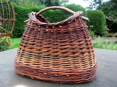 Handbag basket with oval base hand woven by Debbie by SalixArts, £70.00