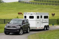This could work to haul my horse.. awesome:) Infiniti QX56