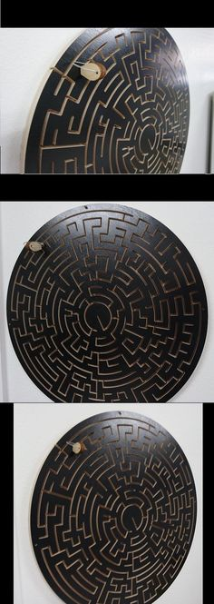 Brain Teasers and Cube Twist 19187: Round Key Maze - Black Version - For Escape Rooms - Escape Room Puzzle And Prop -> BUY IT NOW ONLY: $289 on eBay!