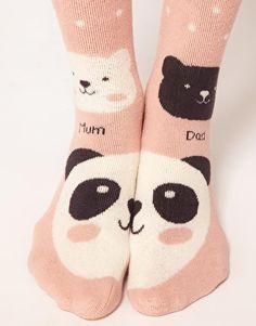 Enlarge Oysho Anti Slip Panda 2 Pack Socks
