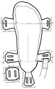 DIY Tire Sandals! Really you could use lots of materials with this template... Not just tires...