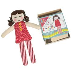 Get Crafty! Have lots of fun with this wonderful Make Your Own Rag Doll Craft Kit! Her name's Daisy and she's bound to be loved that little bit more by the child who made her! www.cloth-ears.co.uk #retro #sew #sewing